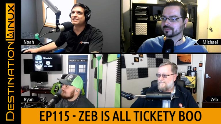 Destination Linux EP115 - Zeb's All Tickety Boo