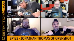 Destination Linux EP125 - Jonathan Thomas of OpenShot