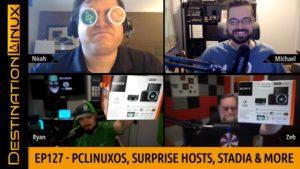 Destination Linux EP127 - PCLinuxOS, Surprise Patron Hosts, Linux AIO, New Thinkpad & Stadia