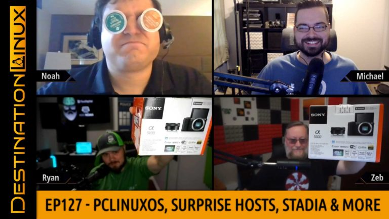 Destination Linux EP127 - PCLinuxOS, Surprise Patron Hosts, Linux AIO, New Thinkpad & Stadia