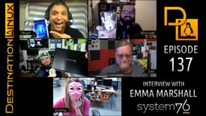 Emma Marshall of System76, Microsoft exFAT, Pinebook Pro, Proton Gamepads - Destination Linux 137