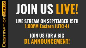 Special Live Stream Episode on September 15th at 1PM Eastern! (or 5pm UTC)