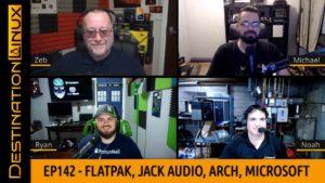 Linus Says Microsoft Has Changed, Flatpak, Jack Audio, Arch Linux | Destination Linux 143