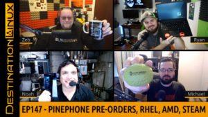 Red Hat, AMD, Steam, PinePhone Pre-Orders, Ubuntu on Raspberry Pi, Microsoft Edge & Defender - DL147
